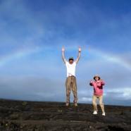 虹のキラウエア火山(2012.3.16 ハワイ島ツアー:キラウエア・アドベンチャー)