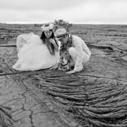 ハワイ島のベストスポットでハネムーンカップルのウェディング姿を撮影!