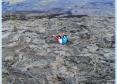 溶岩大地の小さな穴に入ってみました!