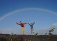 溶岩台地と大きな虹!【キラアド】