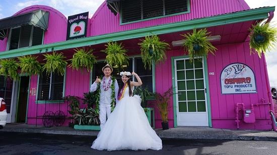 YOSHチャーター(ハワイ島のベストスポットでハネムーンカップルのウェディング姿を撮影!)5